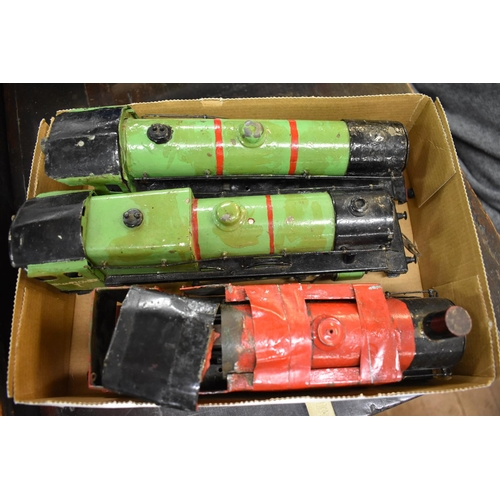 1468 - <strong>Three old clockwork locomotives,</strong>(repainted)....