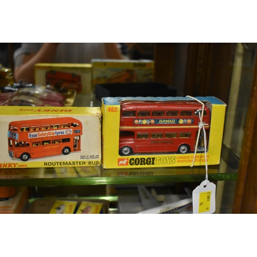 1729 - <strong>A Dinky 289 Bus;</strong> together with a Corgi 468 bus, both boxed....