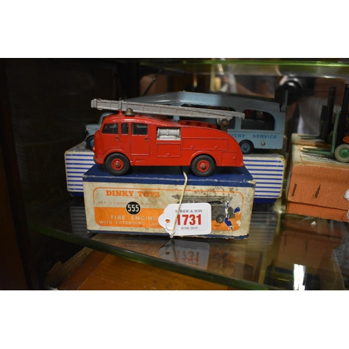 1731 - <strong>A Dinky 555 Fire Engine,</strong>boxed....