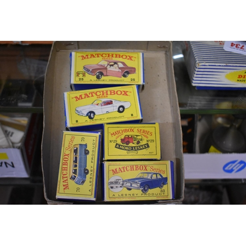1733 - <strong>Five vintage Matchbox vehicles, </strong>all boxed....
