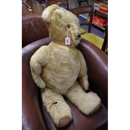 1878 - <strong>A large vintage teddy bear,</strong> 89cm long. ...
