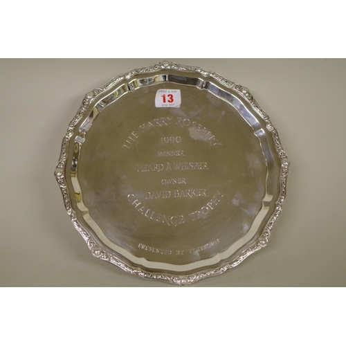 13 - <strong>WITHDRAWN FROM SALE - A</strong><strong>silver</strong><strong>circular presentation salve...