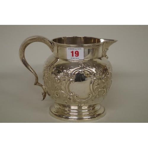 19 - <strong>A Victorian silver beer jug,</strong><em>by Walter & John Barnard,</em> Lond...
