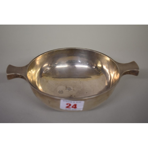 24 - <strong>A late Victorian silver quaich,</strong><em>by George Nathan & Ridley Hayes,</em> Chest...
