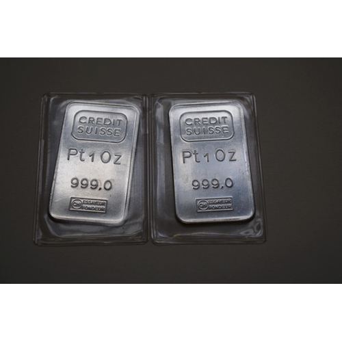 383 - <strong>Two platinum 1 troy oz ingots.</strong>...