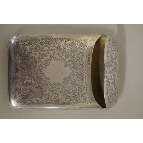 41 - <strong>An Edwardian chased silver cigar case,</strong><em>by Cooper Bros & Sons Ltd,</em>Shef...