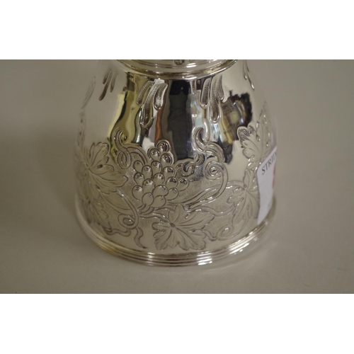8 - <strong>A George III silver wine funnel,</strong> <em>by John Eames,</em> London 1802, having later ...