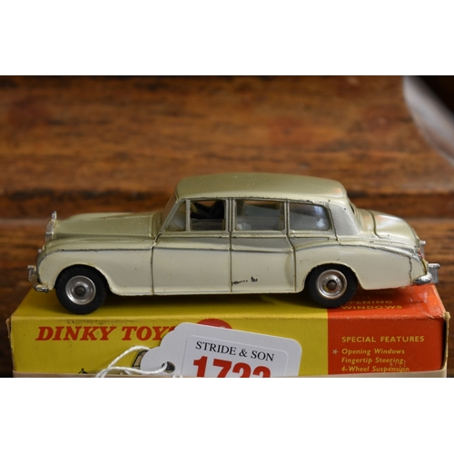 1723 - <strong>A Dinky 198 Rolls-Royce Phantom V,</strong>boxed....