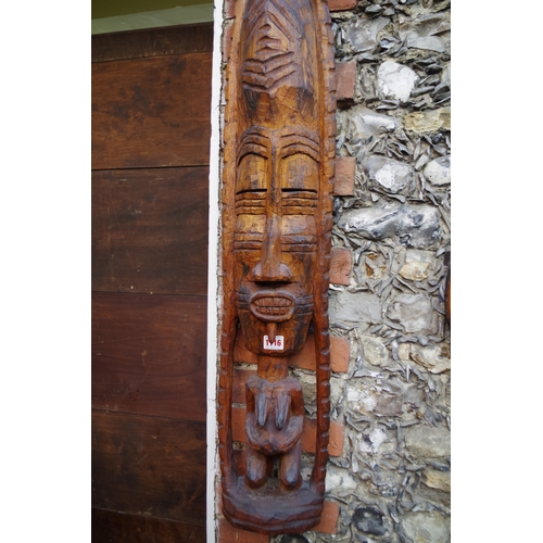 1116 - <strong>Ethnographica:</strong> a tribal carved wood figure, 102cm high....