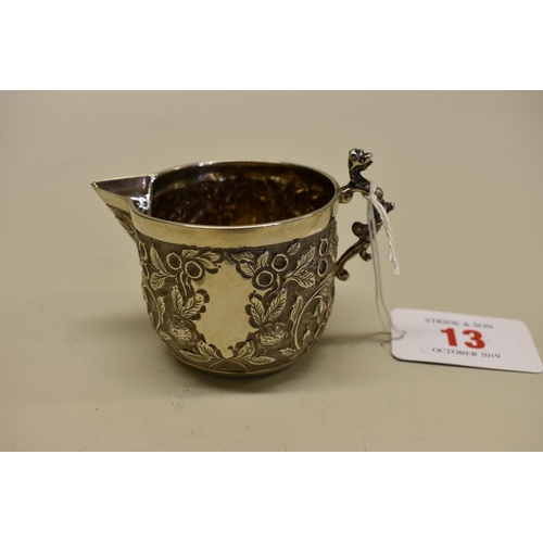 13 - <strong>A Victorian silver milk jug and matching sugar bowl,</strong>by <em>Wakely & Wheeler, <...