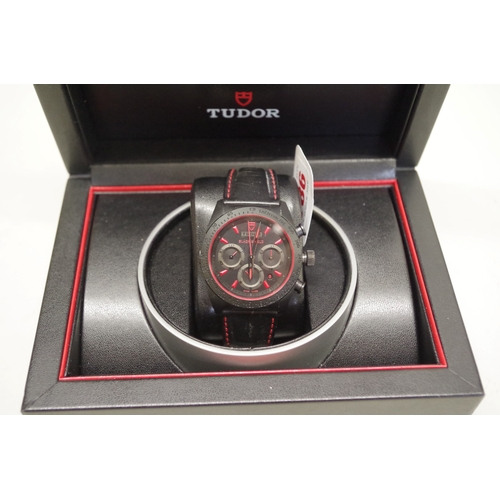 186 - <strong>A Tudor Fastrider black ceramic chronograph automatic wristwatch,</strong>42mm, ref: 42000C...
