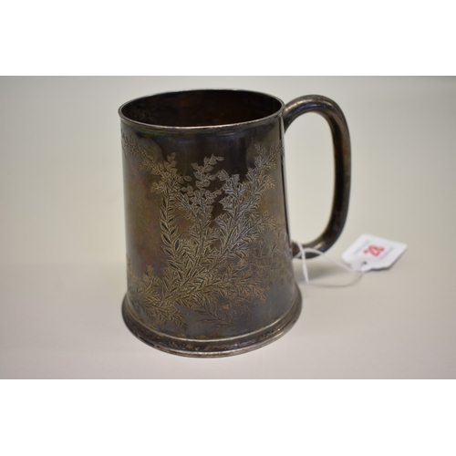 28 - <strong>A Victorian silver pint mug,</strong> by <em>James Deakin & Sons,</em> Sheffield 1884, 1...