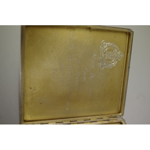 33 - <strong>Two silver engine turned cigarette cases</strong>, 213g all in....