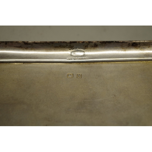 35 - <strong>Two silver engine turned cigarette cases,</strong>238g all in....