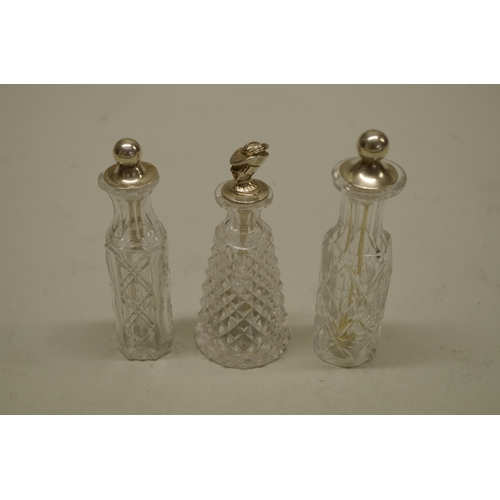 37 - <strong>A Victorian cut glass cayenne pepper bottle,</strong>having silver spoon, by <em>Thomas Bra...