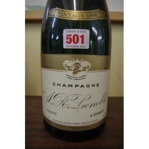 501 - <strong>A 150cl magnum bottle of Lenoble Brut Reserve 1988 vintage champagne. </strong>...