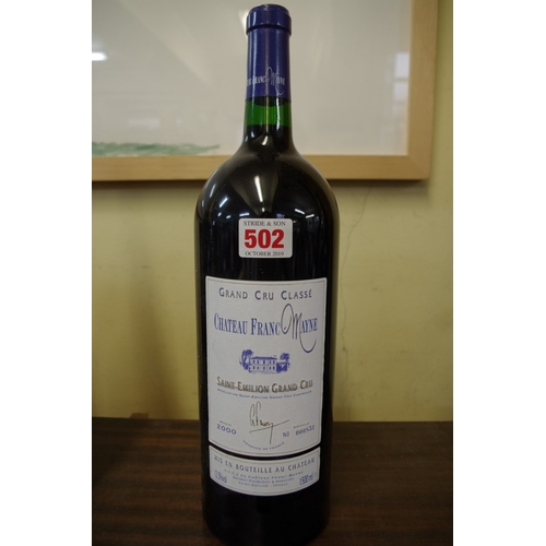 502 - <strong>A 150cl magnum bottle of Chateau Franc Mayne 2000</strong>, Grand Cru Classe St Emilion....
