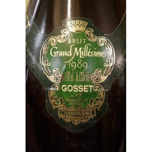 504 - <strong>A 150cl magnum bottle of Gosset Grande Millesime 1989 vintage champagne.</strong>...