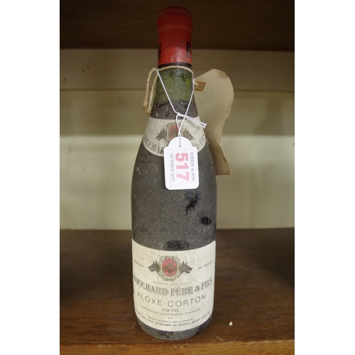 517 - <strong>A 75cl bottle of Aloxe-Corton 1970,</strong> Bouchard Pere & Fils....