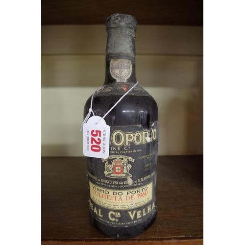 520 - <strong>A 26 fl.oz. bottle of Royal Oporto Colheita de 1960 port.</strong>...