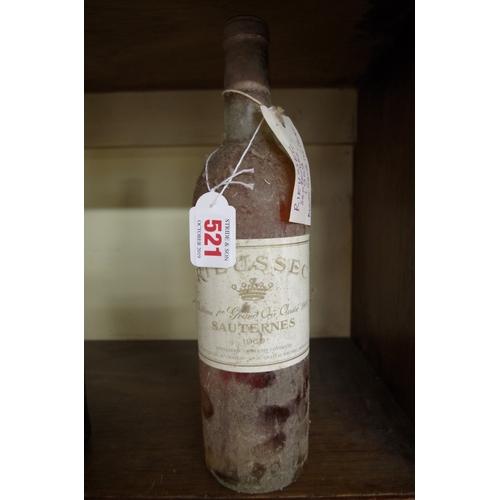 521 - <strong>A bottle of Chateau Rieussec Sauternes 1969.</strong>...