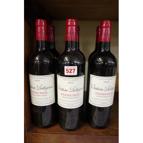 527 - <strong>Six 75cl bottles of Chateau Bellegrave, </strong>2005, Pomerol. (6)<br /><strong>PLEASE NOTE...