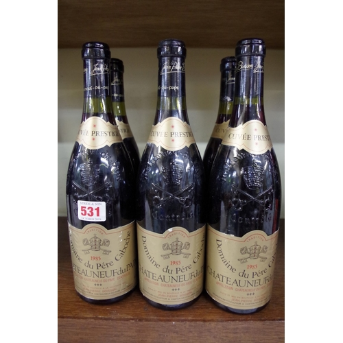 531 - <strong>Six 75cl bottles of Chateau Neuf du Pape Cuvee Prestige,</strong> 1985, Pere Caboche. (6) <b...