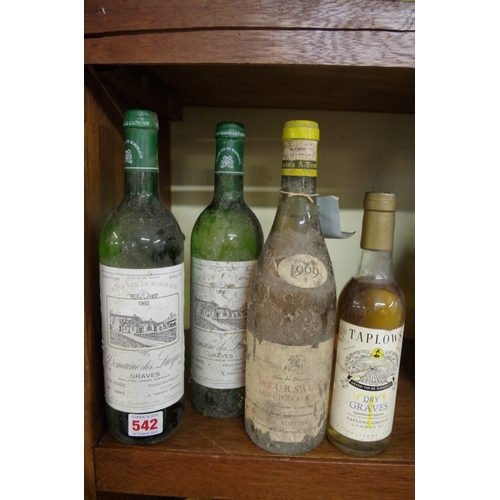 542 - <strong>A 75cl bottle of Meursault Les Chavaliers 1969</strong>, Domaine A Ropiteau-Mignon; together...