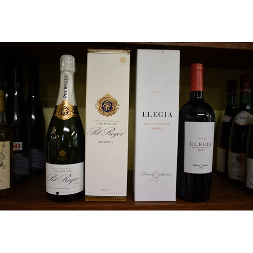 543A - <strong>A 75cl bottle of Pol Roger NV Reserve champagne;</strong>together with a 75cl bottle o...