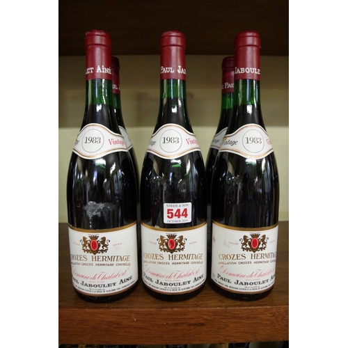 544 - <strong>Six 75cl bottles of Crozes Hermitage Dom de Thalabert,</strong> 1983, Paul Jaboulet. (6) <br...