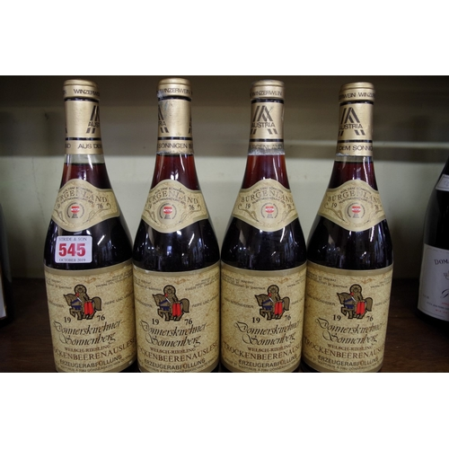 545 - <strong>Four 75cl bottles of Donnerskirchner Sonnenberg Welsch-Riesling Trockenbeerenauslese 1976.</...