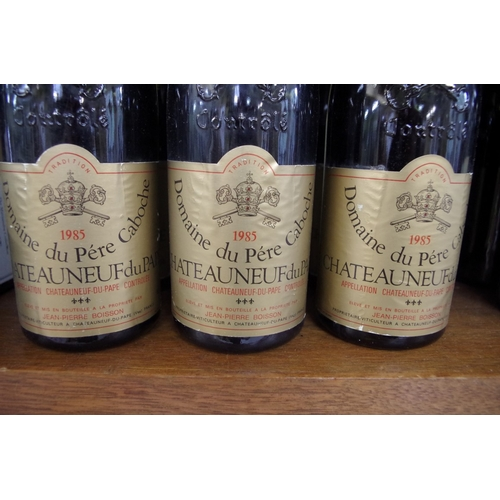 550 - <strong>Six 75cl bottles of Chateau Neuf du Pape Cuvee Prestige,</strong> 1985, Pere Caboche. (6)<br...