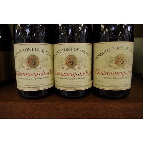 551 - <strong>Six 75cl bottles of Chateau Neuf du Pape Font de Michelle,</strong> 1986. (6)<br /><strong>P...