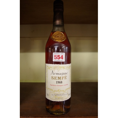 554 - <strong>A 70cl bottle of Sempe 1968 Vintage Armagnac.</strong>...