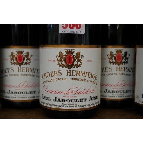 566 - <strong>Six 75cl bottles of Crozes Hermitage Dom de Thalabert1983</strong>, Paul Jaboulet. (6)<br /...
