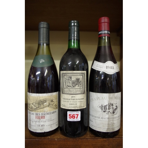 567 - <strong>A 70clbottle of Chateau Vieux Faurie 1977,</strong> bottled by Berry Bros & Rudd; ...