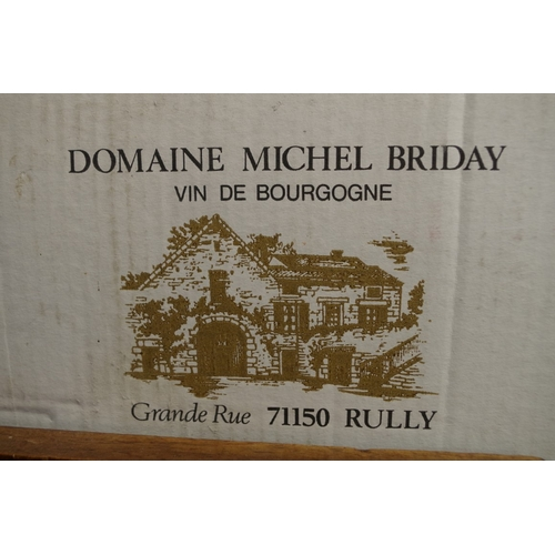 574 - <strong>A case of twelve 75cl bottles of Rully quatre Vignes1995,</strong> Domaine Michel Briday, i...