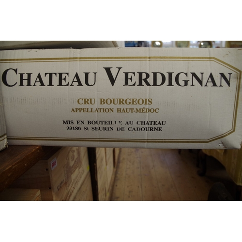 575 - <strong>A case of twelve 75cl bottles of Chateau Verdignan1995,</strong> Cru Bourgeois Haut-Medoc, ...
