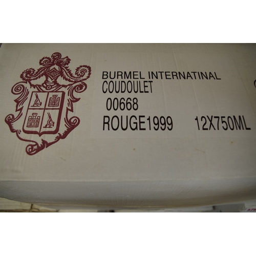 577 - <strong>A case of twelve 75cl bottles of Coudoulet de Beaucastel1999,</strong> Perrin Freres, in oc...