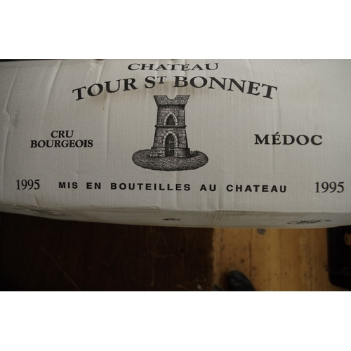 578 - <strong>A case of twelve 75cl Chateau Tour St Bonnet</strong><strong>1995,</strong> Cru Bourgeois M...