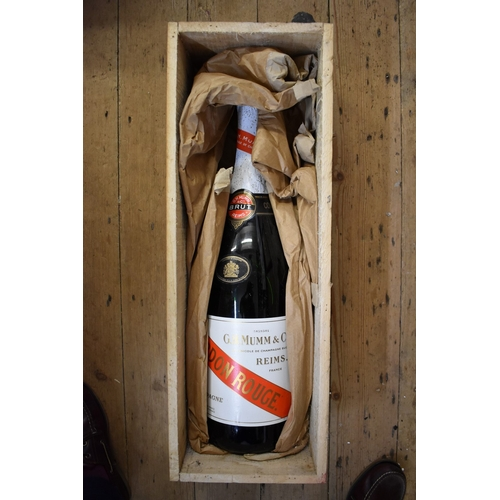 581 - <strong>A 600cl methuselah bottle of Mumm & Co Cordon Rouge MV Champagne, </strong>in original w...