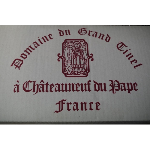 589 - <strong>A case of twelve 75cl bottles of Cotes du Rhone,</strong> 1998, Grand Tinel, in oc. (12)<br ...