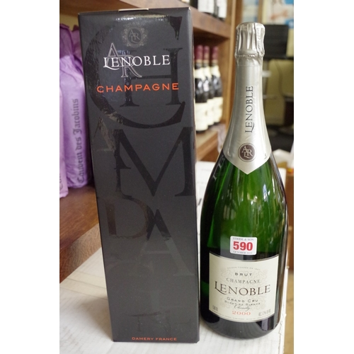 590 - <strong>A 150cl magnum bottle of 2000 Lenoble Grand Cru Blanc de Blancs vintage champagne.</strong>...