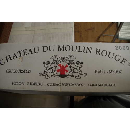 591 - <strong>A case of twelve 75cl bottles of Chateau Moulin Rouge,</strong> 2000, Cru Bourgeois Haut-Med...