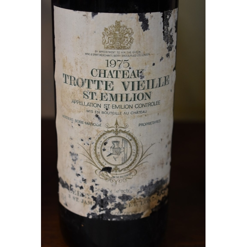 529 - <strong>Three 75cl bottles of Chateau Trotte Vieille 1975,</strong> 1st Grand Cru Classe B St Emilio...