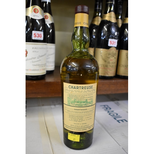 534 - <strong>An old bottle of Yellow Chartreuse,</strong> probably circa 1956-64 bottling....