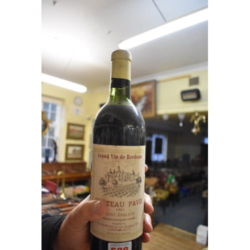538 - <strong>A 75cl bottle of Chateau Pavie 1961.</strong>...