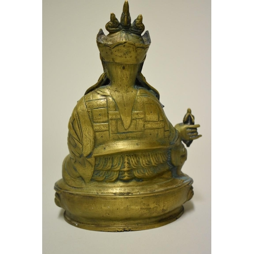 517 - <strong>A Sino-Tibetan bronze bodhisattva</strong>, possibly Wei Tuo or Skanda, <em>probably Qing,</...