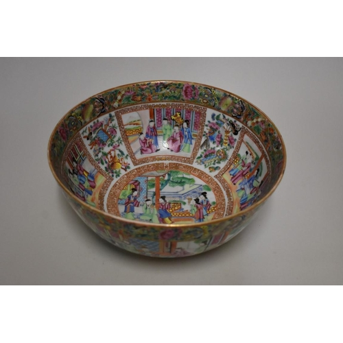 527 - <strong>A large Chinese Canton famille rose bowl,</strong> <em>19th century,</em> 30cm diameter....