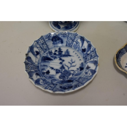 545 - <strong>A small collection of Chinese blue and white porcelain,</strong> <em>18th century,</em> comp...